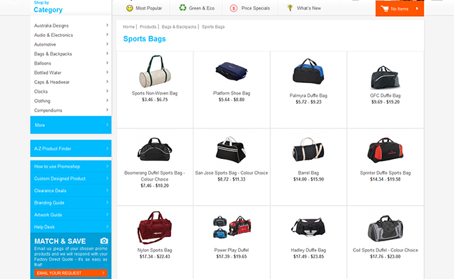 Bags Sports Listing