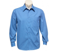 Mens Long Sleeve Micro Check Shirt