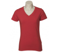 Ladies Short Sleeve V Neck Stretch Tee
