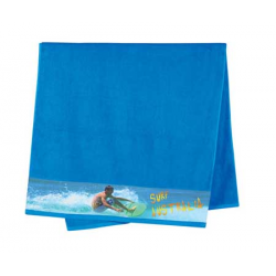 Terry Velour Bath Towels with Sublimation Print