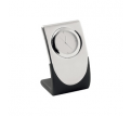 Elite Silver Quartz Desk Clock