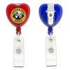 Heart Shaped Retractable Badge Holder