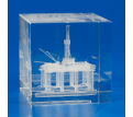3-D Crystal Subsurface Laser-Engraved Box
