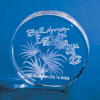 3-D Crystal Subsurface Laser-Engraved Round