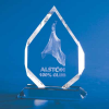 3-D Crystal Subsurface Laser-Engraved Spear Trophy