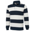 JB Adults Striped Rugby Top