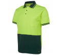 JB Hi Vis Short Sleeve Cotton Back Polo