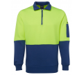 JB Hi Vis Fleece 1/2 Zip Fleecy Sweat