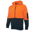 JB Hi Vis Full Zip Fleecy Hoodie (Day Only)