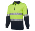 JB Hi Vis (D+N) 1/2 Zip Fleecy Sweat