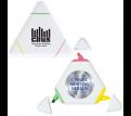 White Triangular Highlighter Marker
