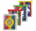 Assorted Colour Crayons In Zipper Pouch