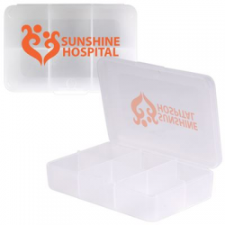 Clear Rectangular Pill Box