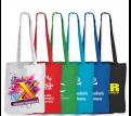 Coloured Cotton Double Long Handle Conference Bag