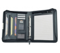 A4 Zip Portfolio with 3 Ring Binder & Solar Calculator