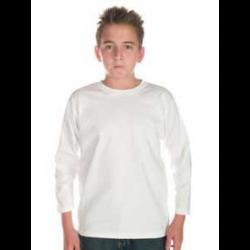 Kids Patriot Long Sleeve Tee White