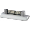 Executive Date Desk Clock with Biz Card Holder