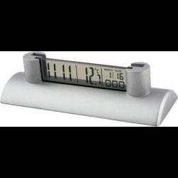 Executive Date Desk Clock with Biz Card Holder