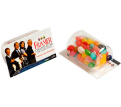 Business Card Holder with Mixed Jelly Beans