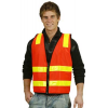 Red Safety Vest (D+N) with Zip