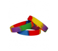Sectional Coloured Debossed Wristbands