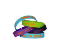 Debossed Colour Filled Silicone Wristbands