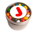 Small Round Tin Filled with Mini Jelly Beans