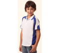 Kids Contrast Polo with Sleeve Panels