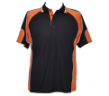 Men's Contrast Polo with Sleeve Panels