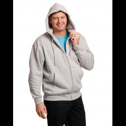 Mens Full Zip Fleecy Hoodie