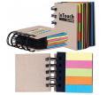 Spiral Notebook with Flags