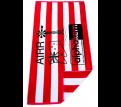 Havana Velour Beach Towels with Black Logo Print