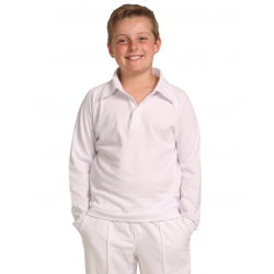 Kids Long Sleeve Cricket Polo Shirt
