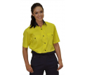 Ladies Short Sleeve Safety Shirt