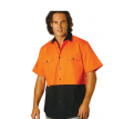 Hi Vis Cool-Breeze S/S Cotton Work Shirt