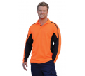 Men's Long Sleeve Fashion Safety Polo