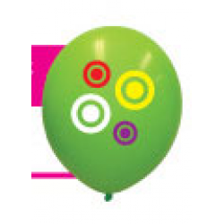 30cm Balloon Printed 4 Spot Colours 1 Side