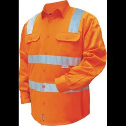 Hi Vis 100% Cotton Drill Shirt
