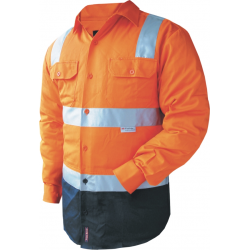 Hi Vis 100% Cotton Drill Shirt