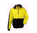 Hi Vis Half Zip 100% Cotton Jumper