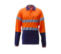 Hi Vis T/T Full Cotton Jersey Polo Long Sleeve