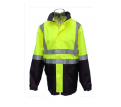 Hi Vis 4 in 1  Day & Night Rain Jacket/Vest Combination