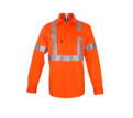 Hi Vis Railway Work Shirt with Back X Pattern
