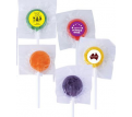 Assorted Colour Lollipops With Front Sticker