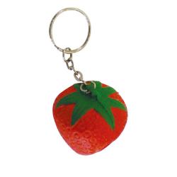 Stress Strawberry Key Ring