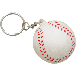 Stress Baseball Key Ring