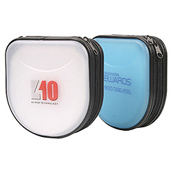 SPECIAL PRICE: Frosted EVA CD & DVD Wallet - Takes 24 Discs Promotional Products