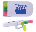 3 Retractable Highlight Wax Marker in Case
