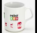 Dye Sublimated Flare Coffee Mug