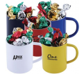 Toffees In Double Wall Stainless Steel Coloured Barrel Mug Promotional Products